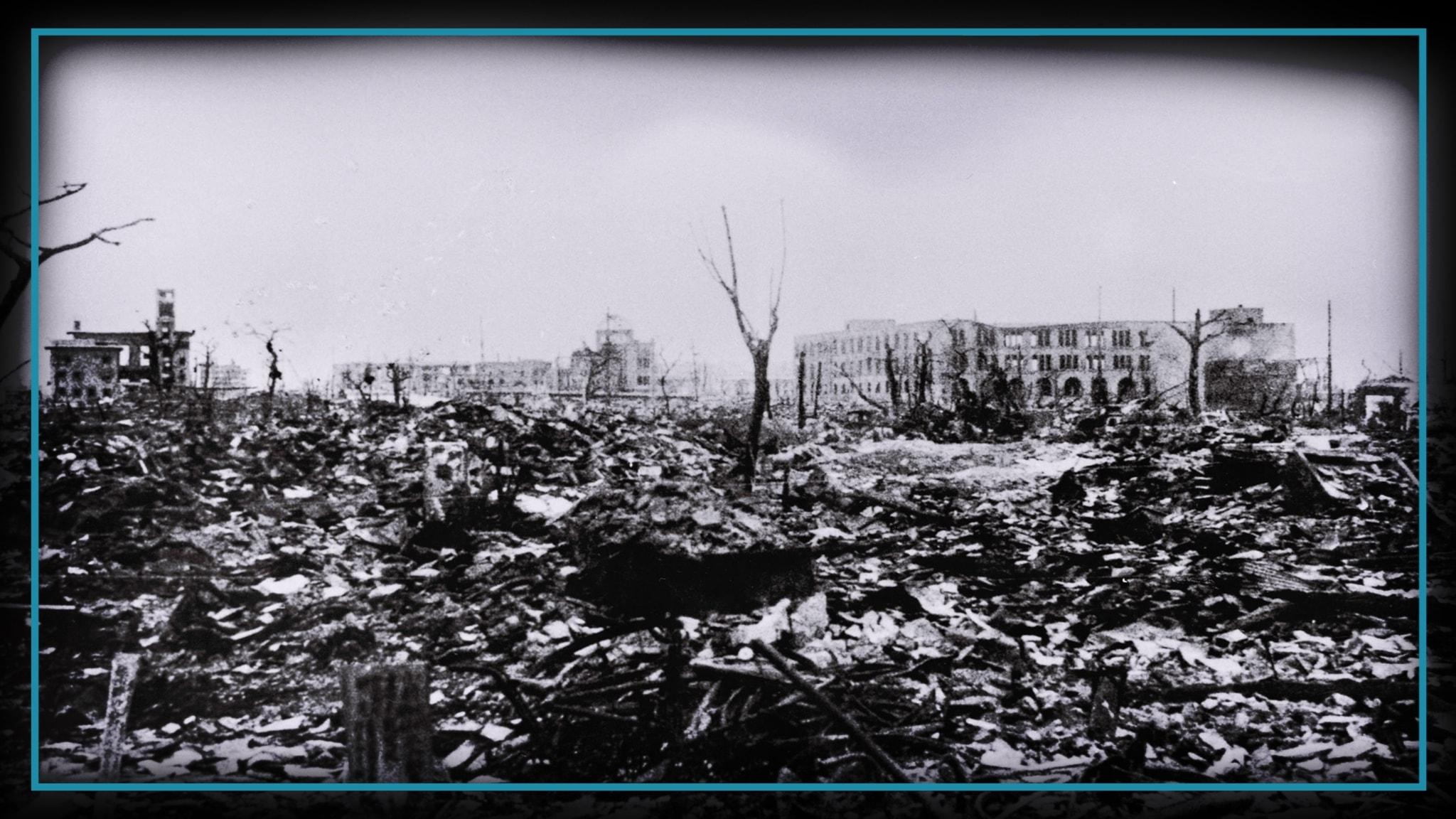 Hiroshima två veckor efter atombomben.