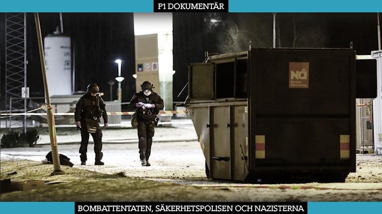 Tre nazister åtalas för tre bombattentat i Göteborg.