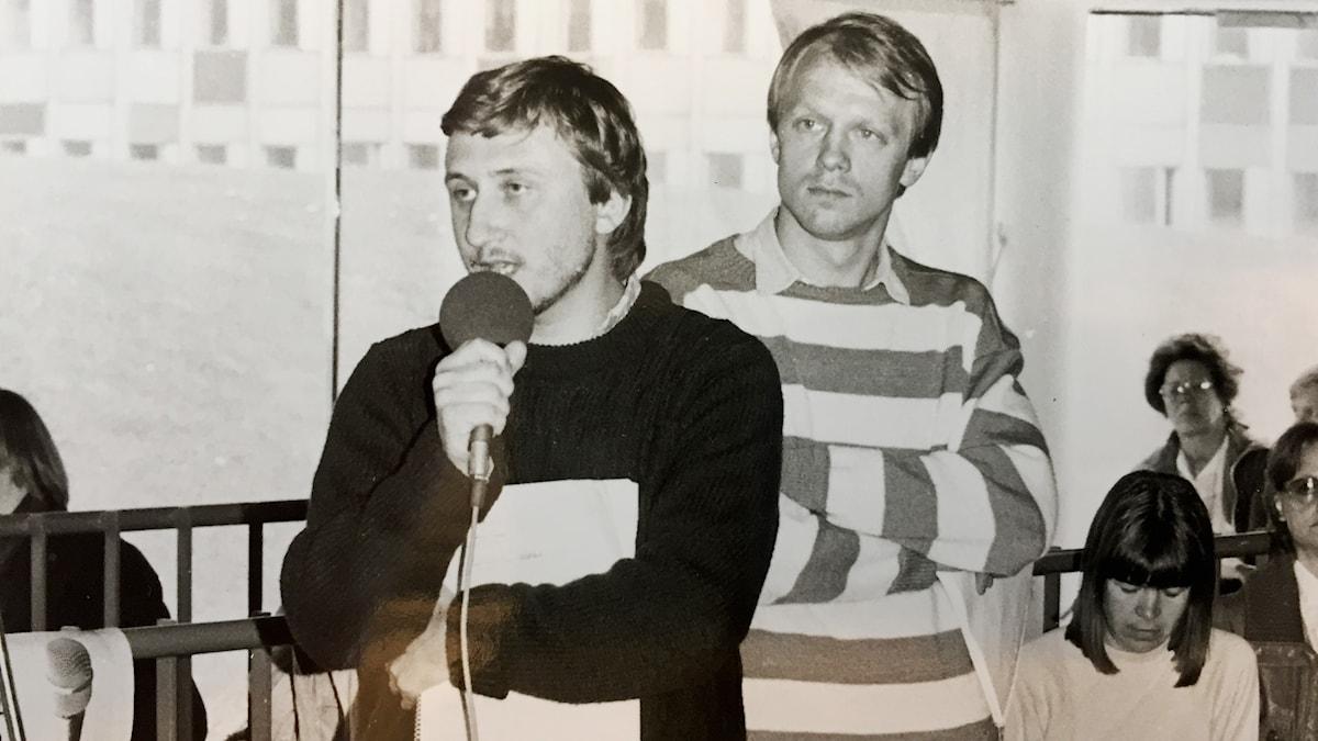 Janne Josefsson och Lennart Persson jobbade på Radio Göteborgs nyhetsredaktion.