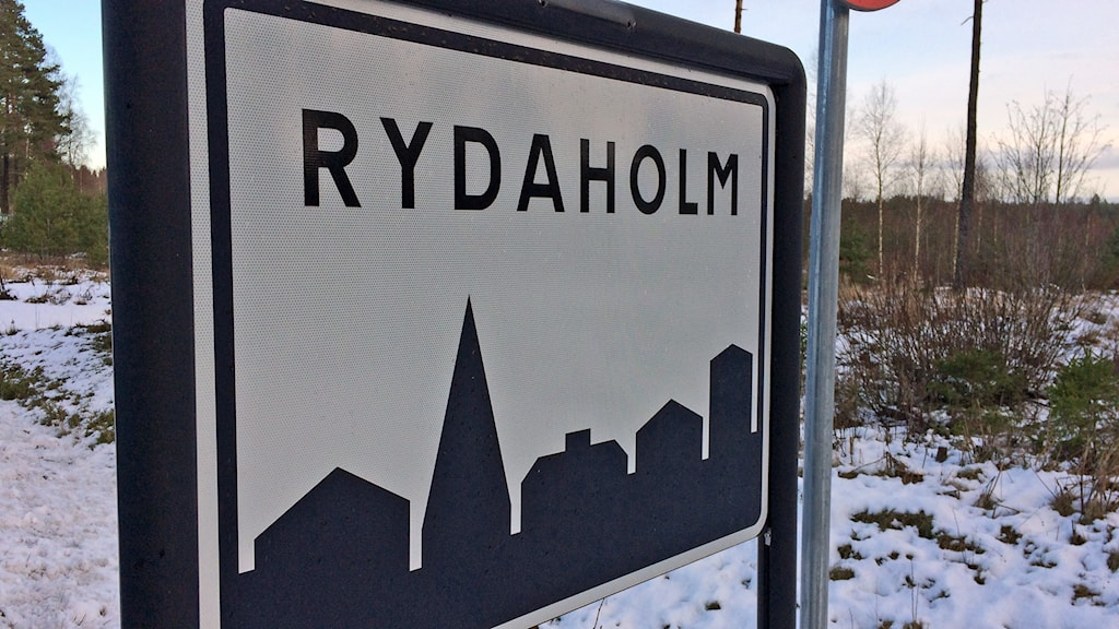 Ortsskylt Rydaholm.