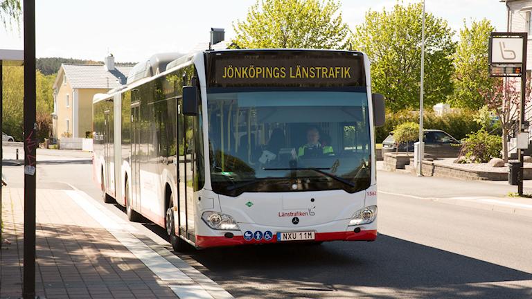 En av de nya bussarna.