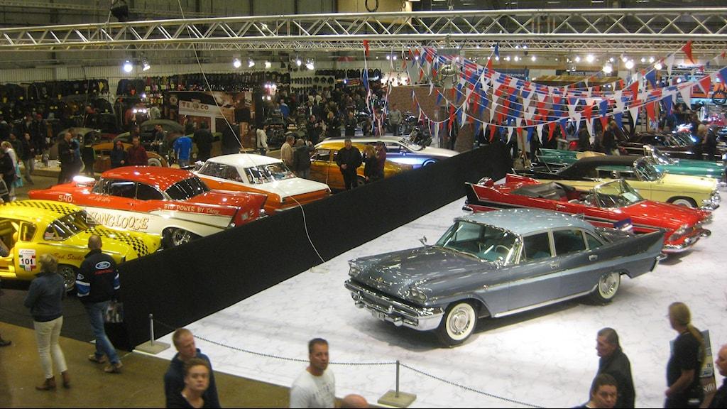 Motormässan Custom motor show under påskhelgen väntas dra 80 000 besökare till Jönköping. Foto: Peter Jernberg / SR
