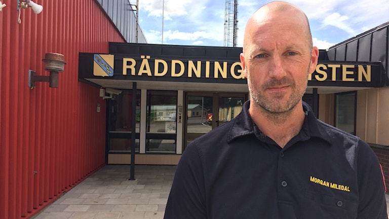 Morgan Miledal, samordnare för psykisk hälsa på Höglandets räddningstjänstförbund.