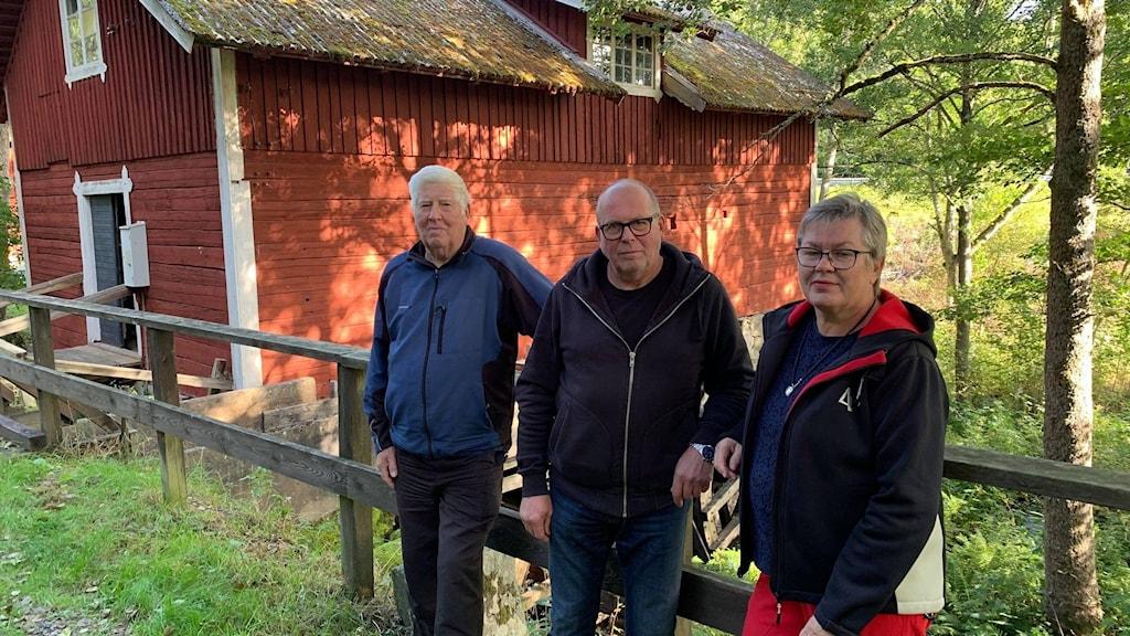 Lars-Erik, Mats och Anita Johansson.