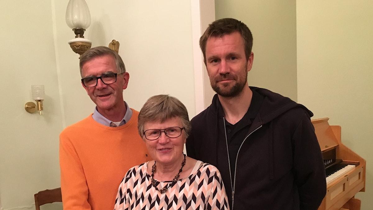 Göran, Mari-Anne och Johan Gustafsson.