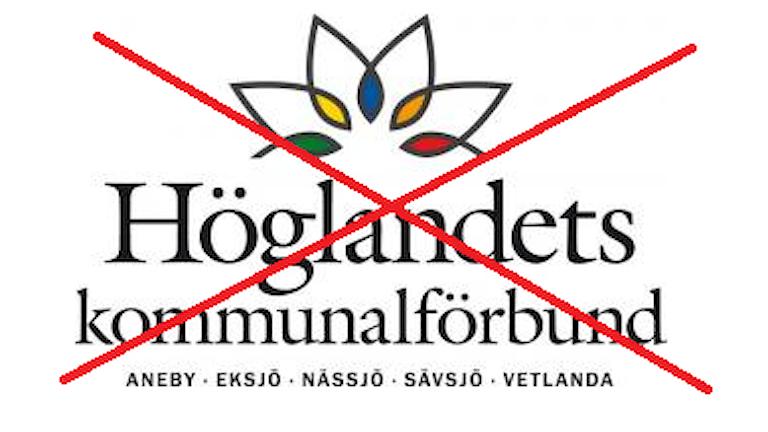 Höglandets kommunalförbunds logga överkryssad.