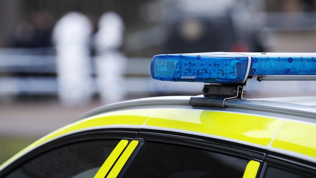 Taket på en polisbil