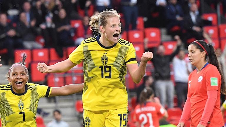 VM-stjärnan Anna Anvegård är klar för Rosengård. Arkivbild.