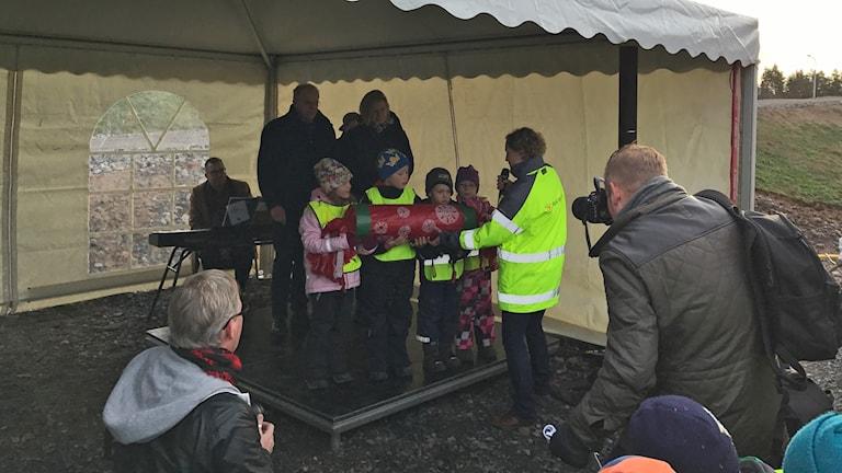 Invigning förbifart Barnarp.