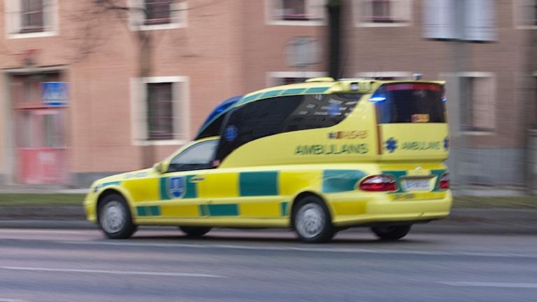 Ambulans. Foto Bertil Ericson/Scanpix.