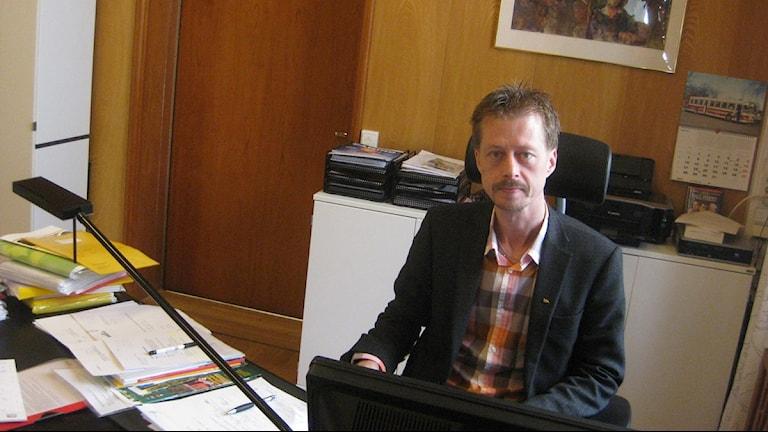 Carl-Johan Sjöberg, vd på Länstrafiken. Foto Peter Jernberg, Sveriges Radio. 20110419