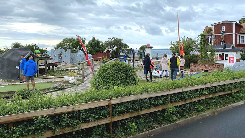 Minigolfbana i Gränna hamn