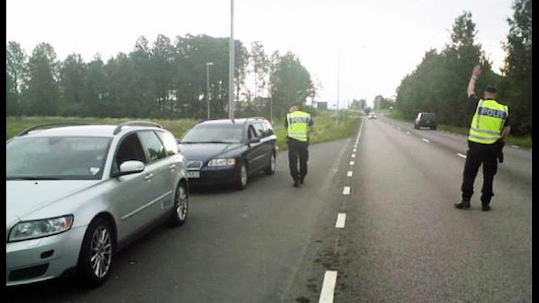 Poliskontroll. Foto Pernilla Arvidsson/Sveriges Radio.