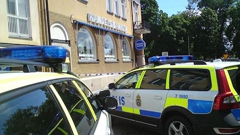Bankrån i Vimmerby. Foto: Lennart Ackling