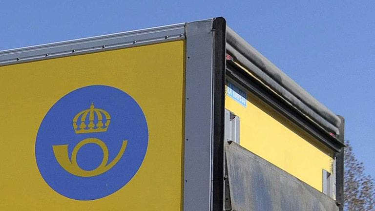 En av postens lastbilar