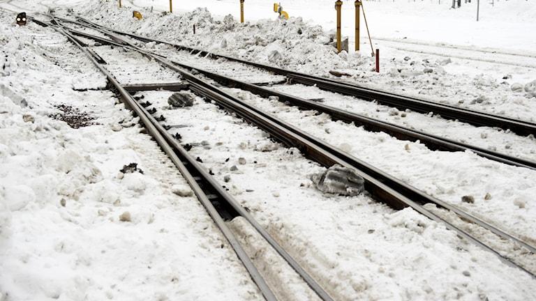 Järnväg vinter.