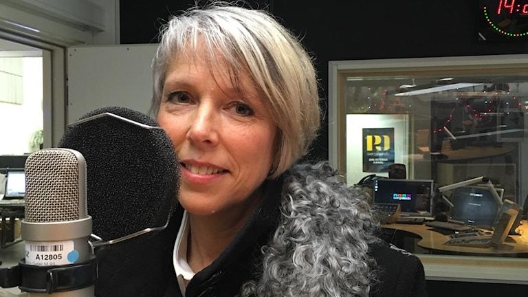 Helena Jonsson från Tranås, Jönköpings läns blivande landshövding. Foto: Ayar Alarcón/Sveriges Radio.