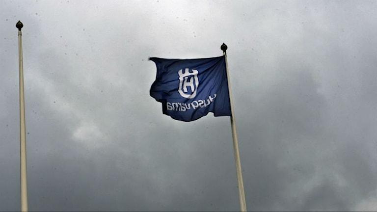 Husqvarna flagga. Foto: Björn Larsson RosvallScanpix