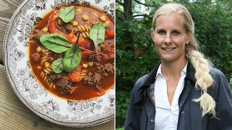 Evelina Borneling  inspirerar med sin matlagning på Instagram.