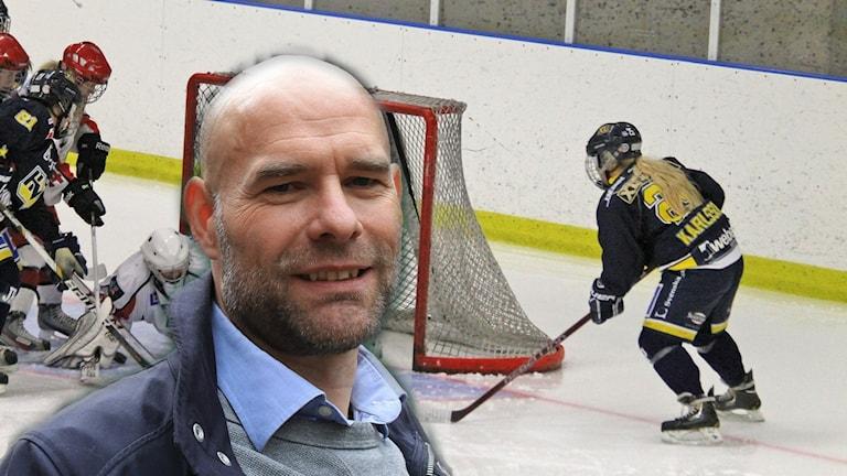 Peter Ekelund, kollage med HV71 dam.