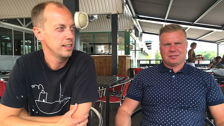 Patrik Månsson vice ordförande & Stefan Fransson, klubbchef i TAIF.