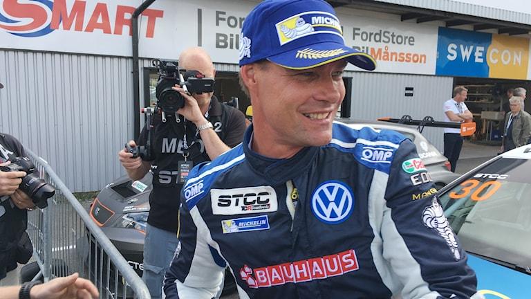 Fredrik Ekblom som kör STCC på Anderstorp i helgen.