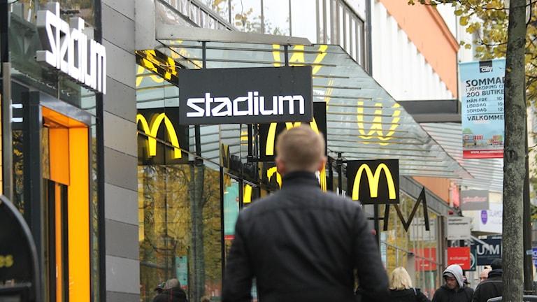 Stadium och McDonalds i Jönköping.