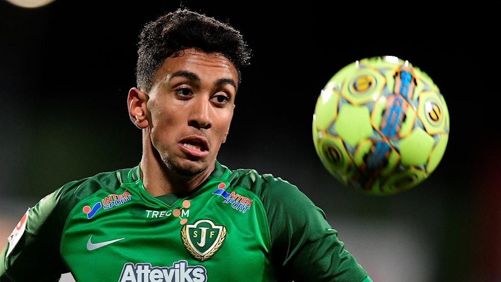 Amir Al-Ammari gjorde J-Södras mål mot Frej.