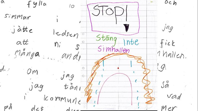 Barnprotest. Del av protestbreven.