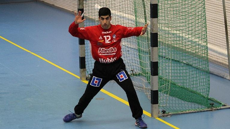 Hallbys målvakt Hayder Al-Khafadji.