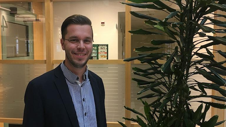 Andreas Flygare på kontoret.