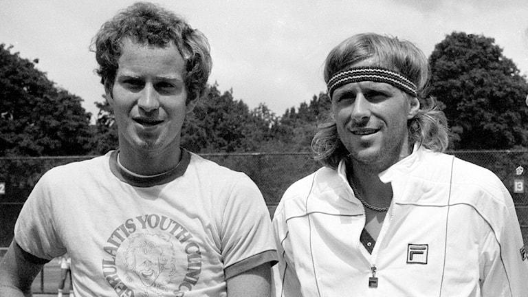 John McEnroe och Björn Borg.