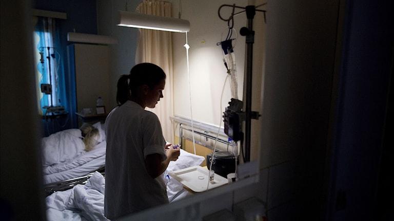 En sjuksköterska. Foto:Tore Meek/Scanpix.