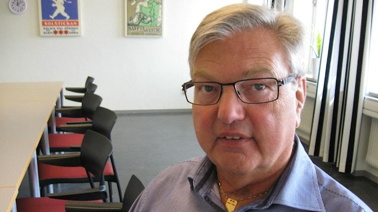 Bengt Dahlqvist, moderat ordförande för regionförbundet. Foto: Anna Ekström/Sveriges Radio