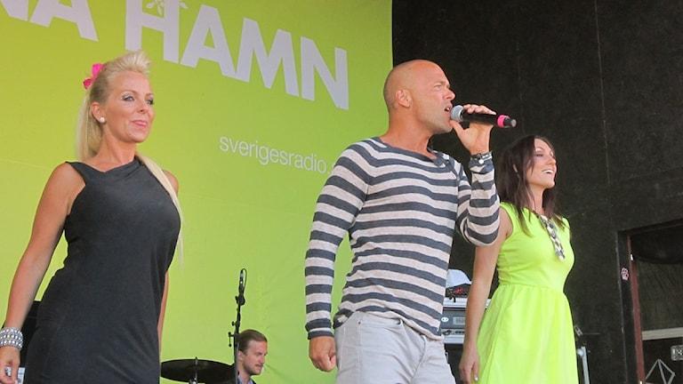 Alcazar höjde temperaturen på allsången 2013. Foto: Kjell Ahlkvist/Sveriges Radio