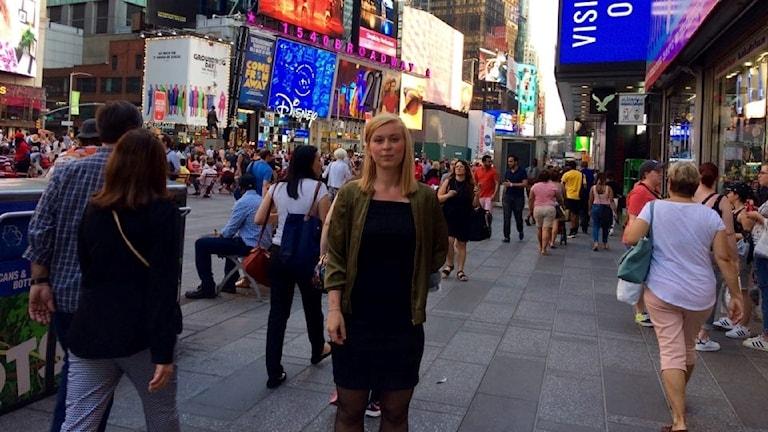 Alma Mattisson Varnander på Times Square