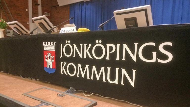 interiör Jönköpings kommunfullmäktige, presidiet.