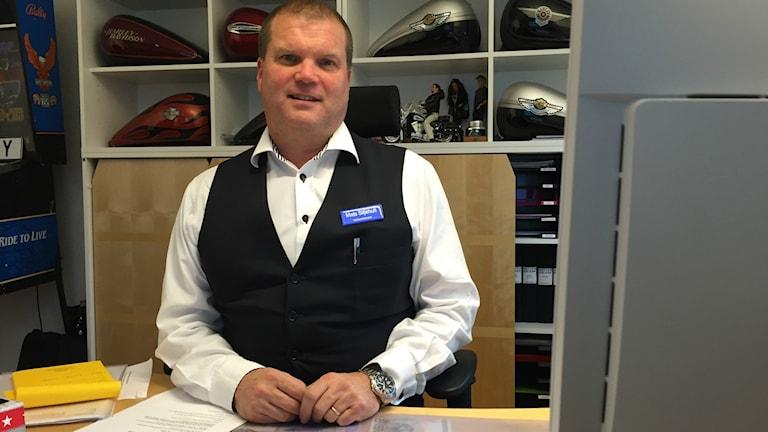Mats Siljehult, verksamhetschef på Wetterhälsan. Foto: Tommy Alexandersson/Sveriges Radio.
