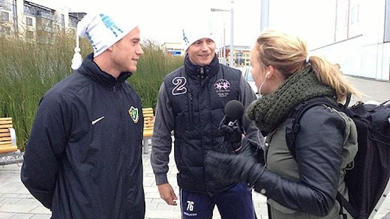 Tommy Thelin och Johan Davidsson. Foto: Sveriges Radio.