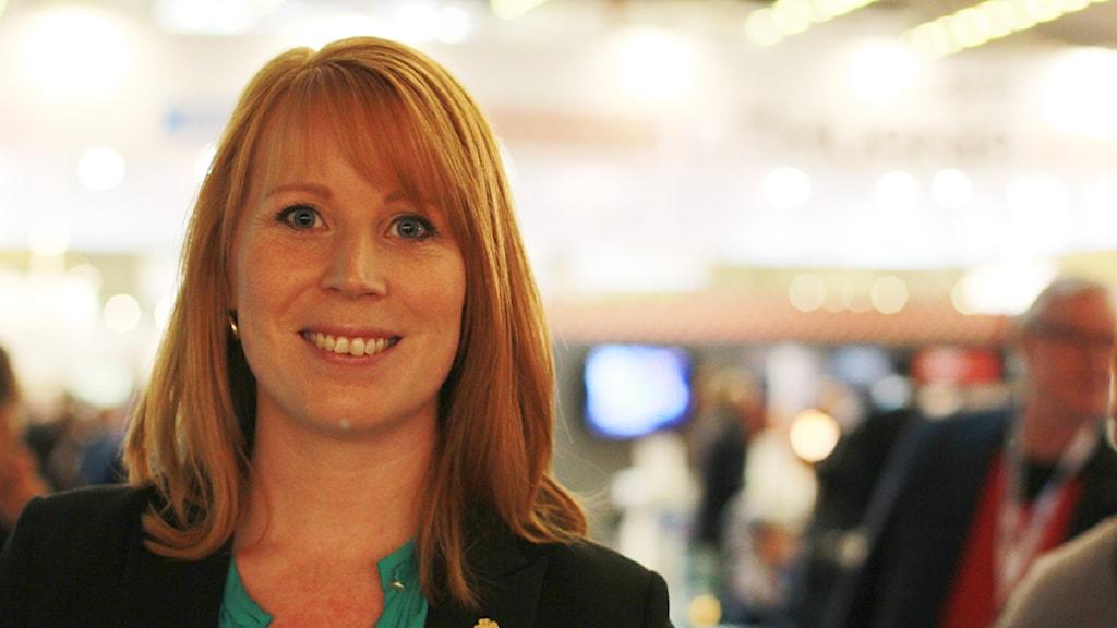 Annie Lööf. Foto: Jonatan Nilsson/Sveriges Radio.