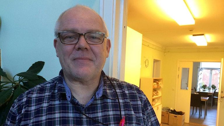 Gunnar Dahlqvist på Ria Hela Människan. Foto: Hannes Ewehag/Sveriges Radio