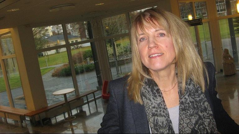 Anita Hansbo, rektor på Högskolan i Jönköping. Foto: Peter Jernberg/Sveriges Radio.