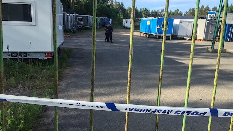 Arkivbild från polisens tillslag i Taberg.