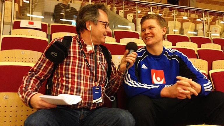 Markus Sjöbrink intervjuas av Kjell Ahlkvist.