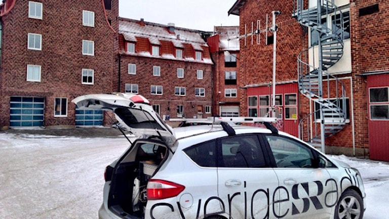 Sveriges Radio-bil. Foto: Håkan Eng/Sveriges Radio.