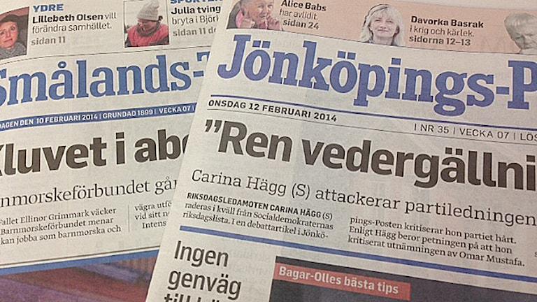 Tidningar. Foto: Jessica Sonelius/Sveriges Radio