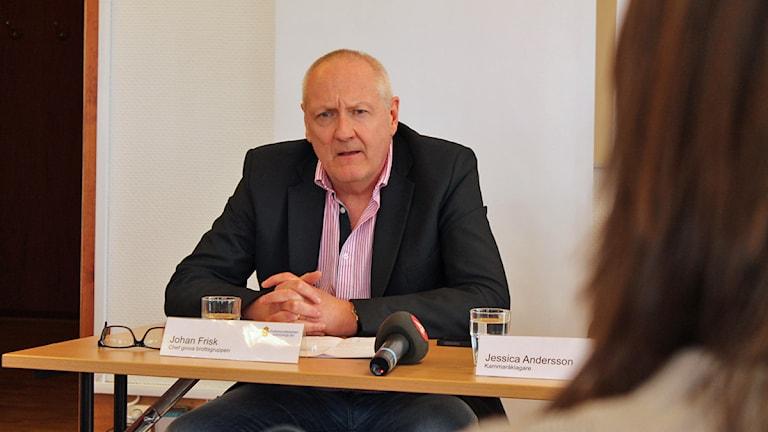 Johan Frisk. Foto: Hannes Ewehag/Sveriges Radio