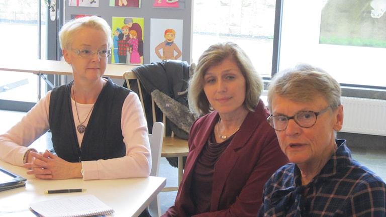Anna Mårtensson, Ella Fronczak och Inger Gustafsson