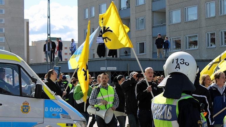 Svenskarnas parti. Foto: Elin Ericsson/Sveriges Radio