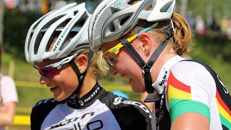 Jenny Rissveds och Alexandra Engen. Foto: David Westh/Sveriges Radio